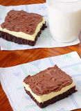 Fudge Cheesecake Brownie Royalty Free Stock Image