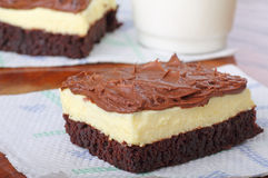 Fudge Cheesecake Brownie Royalty Free Stock Photos