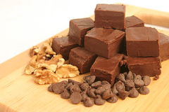 Fudge Chips & Nuts Royalty Free Stock Photo
