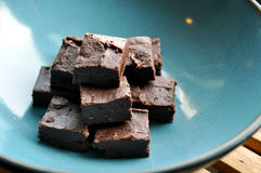 Fudge de chocolate Imagem de Stock Royalty Free