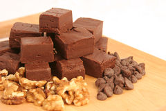 Fudge de chocolate caseiro 1 Imagem de Stock Royalty Free