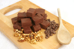 Fudge & Ingredients Stock Photos