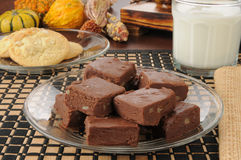 Fudge with milk Royalty Free Stock Image