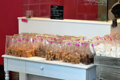 Fudge and other sweeties in a shop Stock Photo