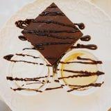 Fudge-Schokoladenkuchen stockfoto
