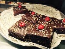 Fudgeschokoladenkuchen Stockfotos