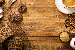 Fudgy brownies with nuts and caramel Royalty Free Stock Images