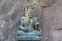 Fudomyoo på den Hasedera templet i Kamakura Arkivbilder