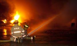 Fuego 01-07-2012 de la construcción de DuBois Foto de archivo