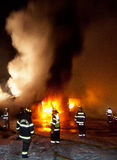 Fuego 01-07-2012 de la construcción de DuBois Foto de archivo libre de regalías