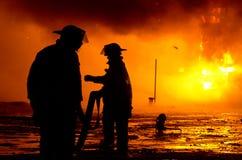 Fuego 01-07-2012 de la construcción de DuBois Imagenes de archivo