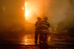 Fuego 01-07-2012 de la construcción de DuBois Imagen de archivo libre de regalías
