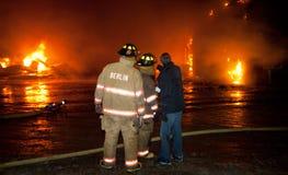 Fuego 01-07-2012 de la construcción de DuBois Imágenes de archivo libres de regalías