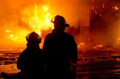 Fuego 01-07-2012 de la construcción de DuBois Fotos de archivo