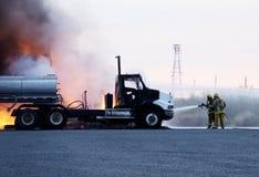 Fuego 2 del carro foto de archivo