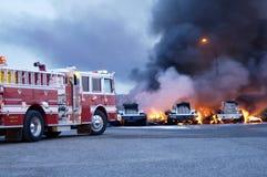 Fuego 3 del carro Fotos de archivo