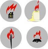 Fuego stock de ilustración