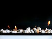 Fuego abierto con estilo Imagen de archivo libre de regalías