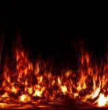 Fuego abstracto en el horno Fotos de archivo