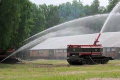 Fuego acorazado GPM-54 de los tanques Foto de archivo libre de regalías
