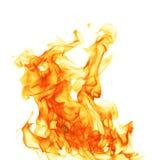 Fuego aislado en el fondo blanco Fotografía de archivo