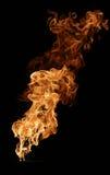 Fuego aislado en negro imágenes de archivo libres de regalías
