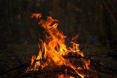 Fuego 3 al aire libre Imagenes de archivo