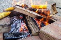 Fuego al aire libre imagen de archivo libre de regalías
