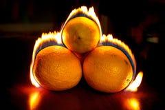 Fuego anaranjado fotografía de archivo