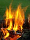 Fuego ardiente Foto de archivo libre de regalías