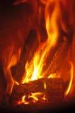Fuego ardiente Fotografía de archivo libre de regalías