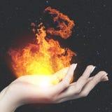 Fuego ardiente del conocimiento Imagen de archivo