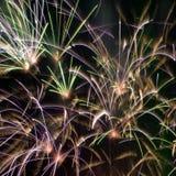 Fuego artificial. Imágenes de archivo libres de regalías