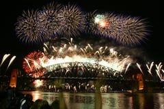 Fuego artificial 2009 del Año Nuevo de Sydney Imagen de archivo libre de regalías