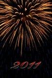 Fuego artificial 2011 Foto de archivo libre de regalías