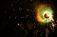 Fuego artificial Imagen de archivo libre de regalías