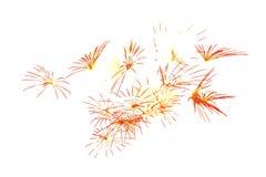 fuego artificial aislado en la celebración blanca ha del fuego artificial del fondo Fotografía de archivo