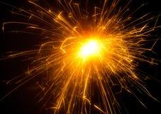 Fuego artificial brillante fotografía de archivo