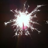 Fuego artificial brillante Fotografía de archivo libre de regalías