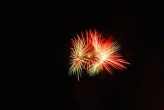 Fuego artificial coloreado estupendo Imagen de archivo