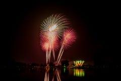 Fuego artificial colorido Foto de archivo