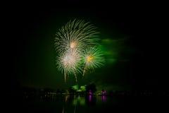 Fuego artificial colorido Imagenes de archivo
