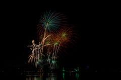 Fuego artificial colorido Fotos de archivo libres de regalías