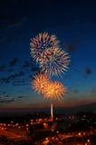 Fuego artificial de la celebración Fotos de archivo