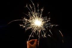 Fuego artificial de la chispa Foto de archivo libre de regalías