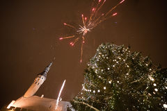 Fuego artificial del Año Nuevo Imagen de archivo