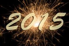 Fuego artificial 2015 del Año Nuevo Fotos de archivo libres de regalías