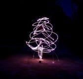 Fuego artificial del Año Nuevo fotografía de archivo libre de regalías