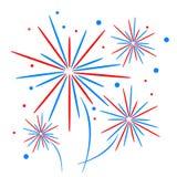 Fuego artificial del día de fiesta Fotos de archivo libres de regalías