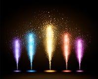 Fuego artificial del día de fiesta del vector Imagenes de archivo
